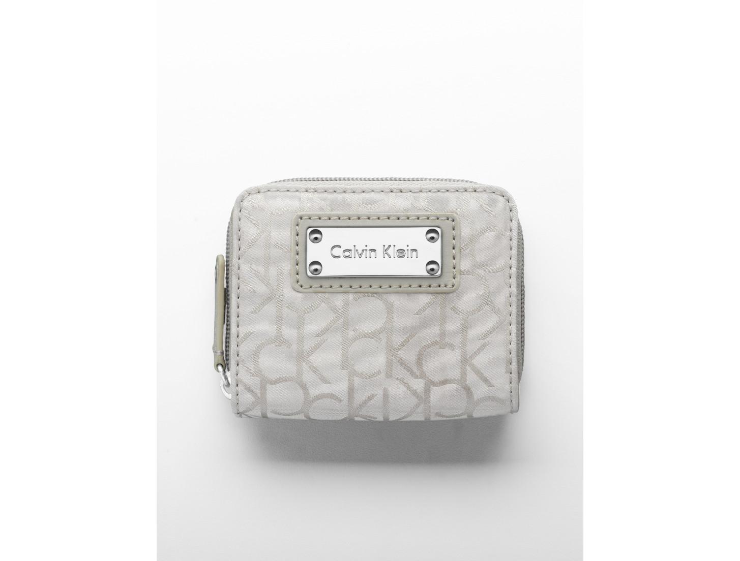 32175ceed9 calvin klein women's nylon logo id wallet | razzberrycouture